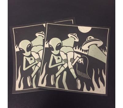 стикер 10-10см night print
