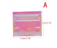 zip пакет 1 шт 6см -7см радуга,прозрачный, плотный